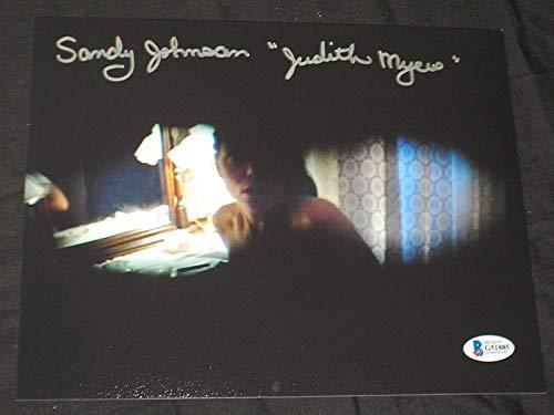 (SANDY JOHNSON Signed 8x10 Photo Judith Myers Halloween Autograph BAS BECKETT)