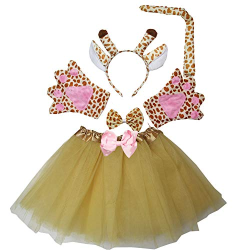 Kirei Sui Kids Giraffe Costume Tutu Set Gold]()