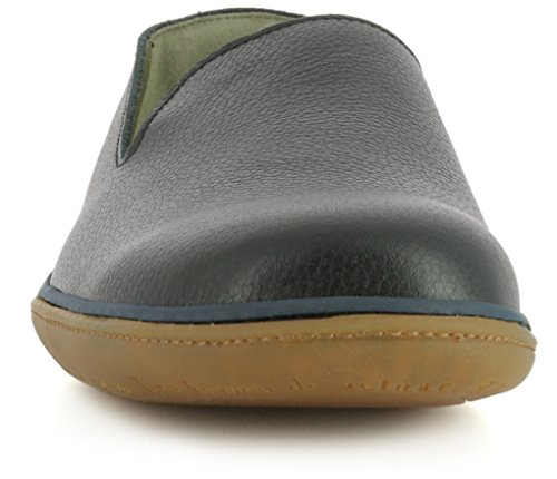 El Naturalista Damenschuhe NE08 El Viajero Komfortabler Damen Sneaker, Slipper mit Gummiszug Black-Vaquero