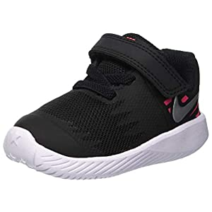 Best Epic Trends 41-78%2BYt2bL._SS300_ Nike Girl's Star Runner (TDV) Running Shoes (6 Toddler M, Black/Metallic Silver/Pink)