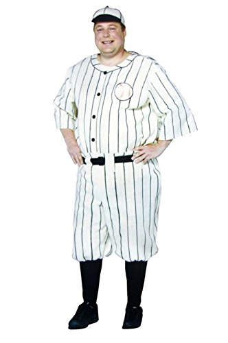 Rasta Imposta Mens Babe Ruth Style Old Time Baseball Player Fancy Costume, X-Large (46-48) -