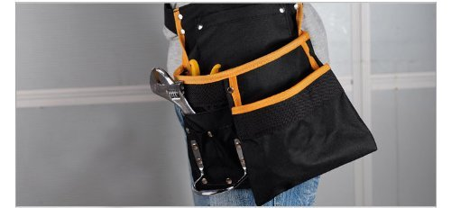 Utility Multifunction Pocket Waist Apron Electrician Hardware Garden Tool Holder With Belt and Hook