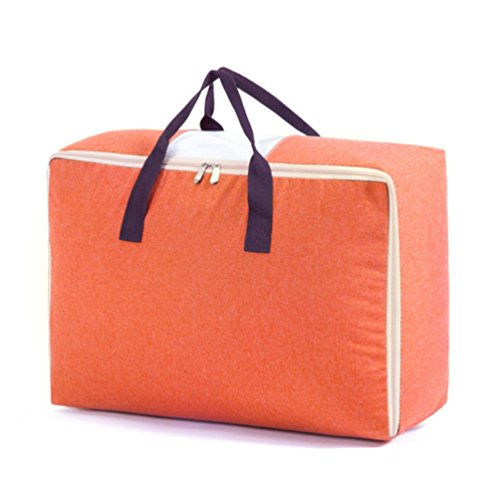 rproof Oxford Home Quilt Blanket Comforter Pillow Case Storage Bag Organizer Household Foldable Travel Luggage Clothes Shoes Container Holder-100L (100L, orange) ()