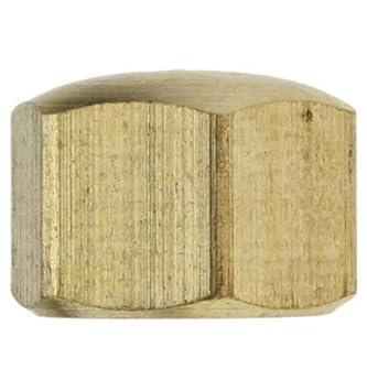 Reidl Hutmuttern niedrige Form M 12 DIN 917 Messing blank 10 St/ück