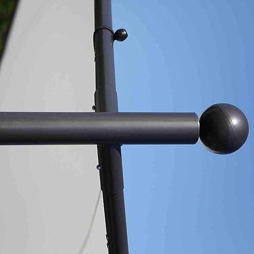 Siena Garden 120399 Estructura Tipo Carpa Berlino, 4 x 4 m, Estructura de Acero Gris, poliéster Blanco: Amazon.es: Jardín