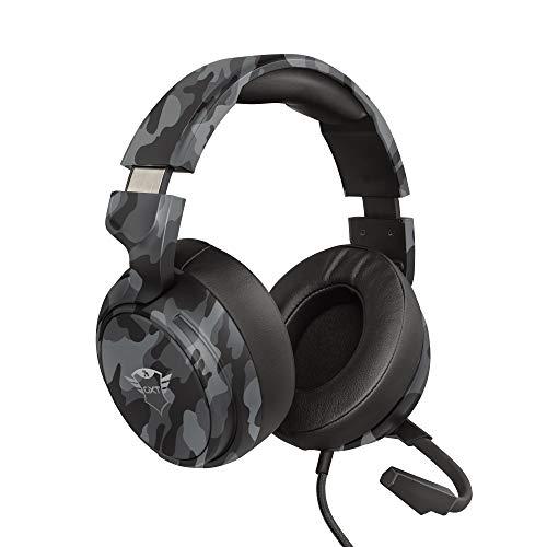 Trust Cascos Gaming GXT 433K Pylo Auriculares Gamer con Micrófono Plegable, Altavoces Activos de 50 mm, Cable Trenzado, para PS4, PS5, PC, Nintendo Switch, Xbox One, Xbox Series X - Negro Camuflaje