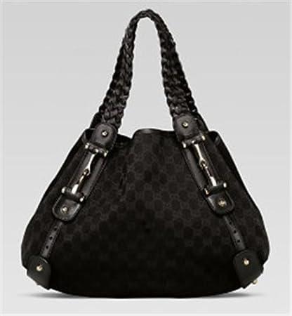 89549417aa0aa4 Amazon.com: Gucci 'Pelham' medium shoulder bag in black fabric: Everything  Else