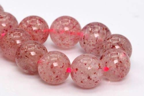 (6mm Genuine Natural Strawberry Quartz Beads Grade A Round Loose Beads 7'' Crafting Key Chain Bracelet Necklace Jewelry Accessories)