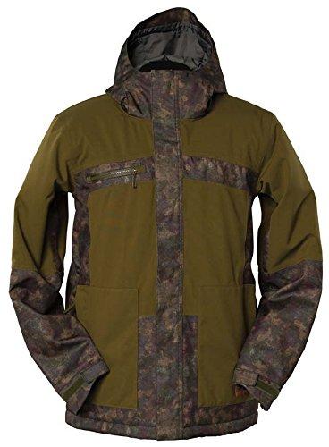 (Bonfire Klamath Snowboard Jacket Mens Sz S Dark Moss)