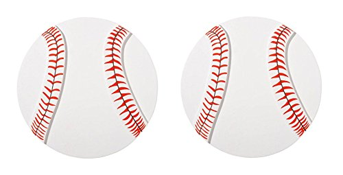 Darice Layered Natural Painted Wood Cutout - Baseball - Set of 2 (Layered Painted Shape)