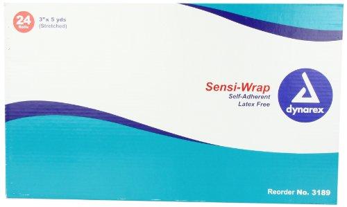 Dynarex Sensi Wrap, 3 Inches X 5 Yards, Tan, 24 Count