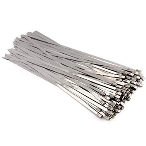 The Elixir 400pcs 11.8 Inches (300 x 4.6mm) Stainless Steel Cable Zip Tie Exhaust Wrap Coated - Elixir Cables