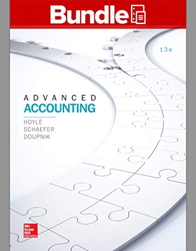 GEN COMBO ADVANCED ACCOUNTING; CONNECT ACCESS CARD