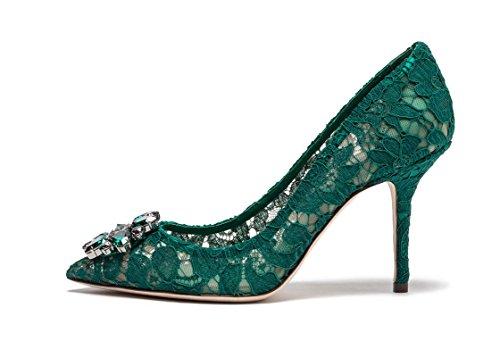 Verde del da sposa Tacchi merletto Tacco col Tacchi Scarpe uBeauty nozze Scarpe sexy Magnifico alti di S6nZtwq