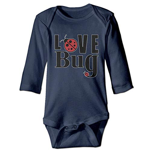 Love Ladybugs Baby Bodysuit Humor Onesie Cotton Outfits Costume Navy]()