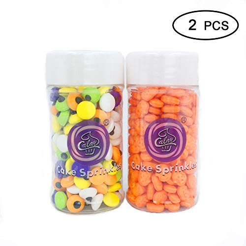 Apszst Christmas candy Edible Candy Decorations Eyeballs, Christmas Decorating candy Kit, Christmas Jumbo Candy Eyes Toppers, 2-Piece Christmas treats ()