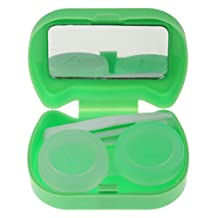 MagiDeal Cute Cat Design Pocket Size Contact Lens Case Travel Storage Kit Holder Container Box - Green