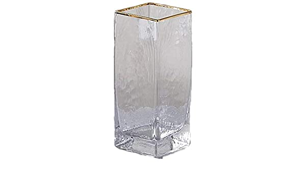 HZYDD Jarrones Transparente de Cristal Cuadrado de la Flor del florero/en Flores Amarillas for el hogar/Hotel/del Partido Decoración Decoración Sin Flores Grandes y de Color: Pequeño: Amazon.es: Hogar