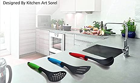 Amazon.com: Kitchen Art, Kitchen Utensils Sets - Home Cooking Tools - Ladle, Flexible Turner, Slotted Spoon: Kitchen & Dining