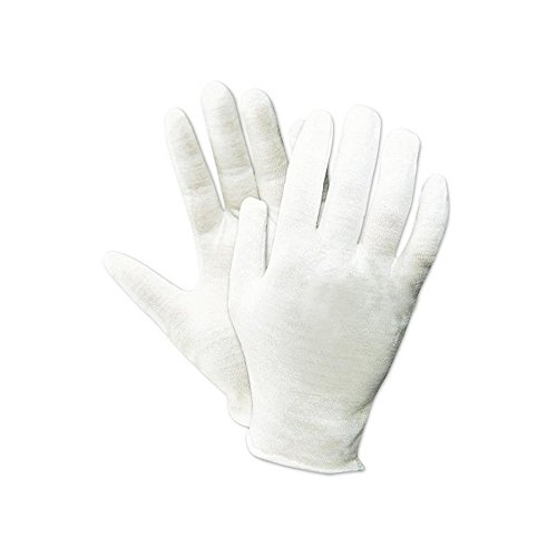 Magid Safety TouchMaster 440J Inspection Gloves | 100% Cotton Medium Weight Ambidextrous Lisle Inspection Gloves - - Reversible, White, XL (12 Pairs) Cotton Reversible Glove