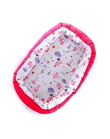SLEEPAA Nid pour bébé réducteur diminution de lit Nid d' ange Tour de lit cocon housse 100% coton déhoussable et lavable 85x50x8 cm 0-6 mois Made In Spain (Big Apples)