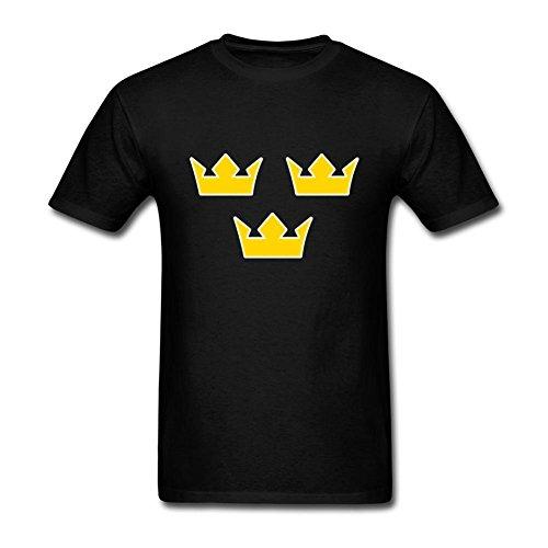 Liyo Man Tre Kronor Tshirts Black