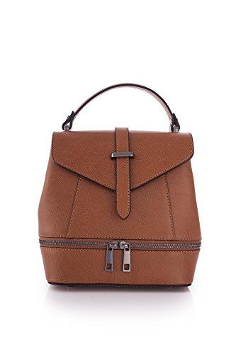 Marant - Bolso mochila  de Piel para mujer marrón cuero