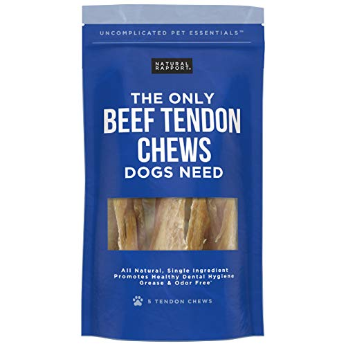 Dog Treats for Small and Large Dogs, Dog Training Treats, Grain-Free Dog Treats, Beef Tendon Dog Snacks, Dog Chews with USDA-Inspected Meat