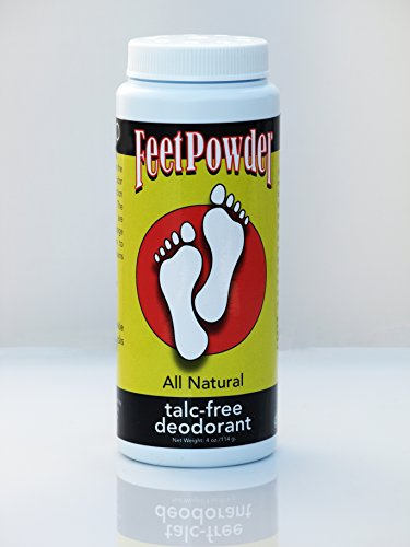 Feet Powder Foot and Shoe Deodorant 4 oz/114mg by Muddy H2O Etc.