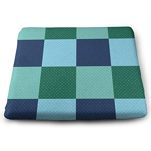 Comfortable Seat Cushion Print A Retro Style with Old-Fashioned Polka Dots - Memory Foam Filled for Outdoor Patio Furniture Garden Home Office