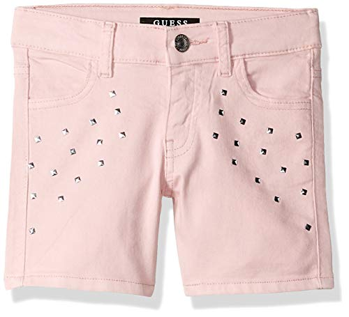 GUESS Girls' Big Bling Pocket Cuffed Shorts, high Risk Pink 12