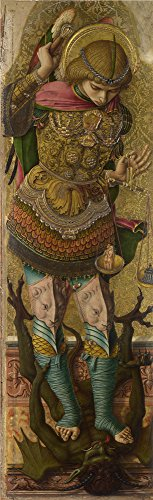 - Oil Painting 'Carlo Crivelli - Saint Michael,about 1476', 8 x 26 inch / 20 x 67 cm , on High Definition HD canvas prints is for Gifts And Foyer, Game Room And Home Theater Decoration, HD