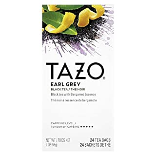 TAZO Earl Grey Enveloped Hot Tea Bags Non GMO, 24 count, Pack of 6
