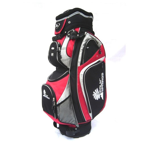 Palm Bag Golf Springs - Palm Springs Golf Red/Silver 14 Way Full Length Divider Cart Bag [Misc.]