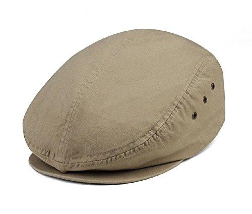 Washed Canvas Ivy Cap - Khaki (E4hats Plaid Hat)