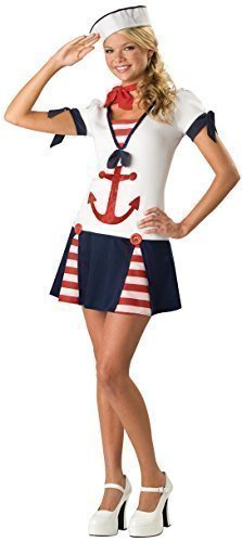 (Teenage Girls Sailor Uniform Armed Forces Halloween Fancy Dress Costume Outfit 12-17 Years (14-15)