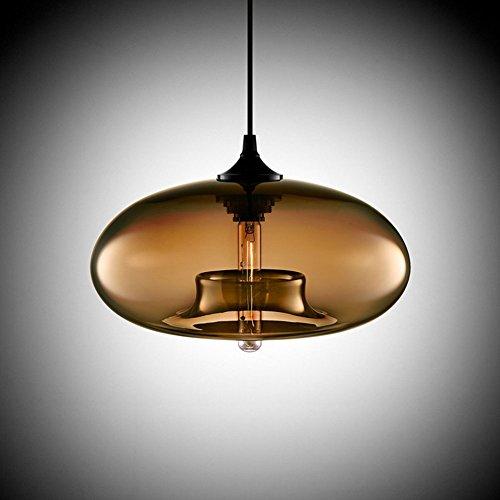 Cozyle Modern Design Pendant Hanging Light Glass Shades Coffee by HomeTell
