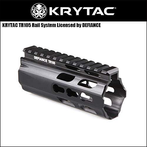 (クライタック)KRYTAC電動ガンパーツ DEFIANCE TR105 Keymod キーモッドハンドガード(5インチ/PDWサイズ)