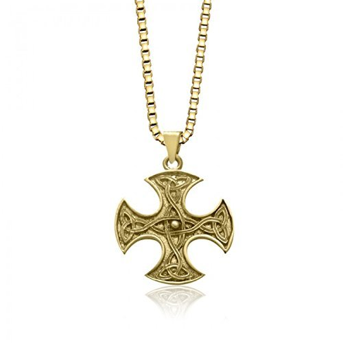10 Trinity Pendant - 10K Yellow Gold 4 Way Trinity Celtic Knot Pendant