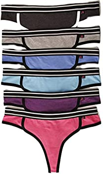 6-Pack Just Intimates Cotton Panties/Thong Underwear