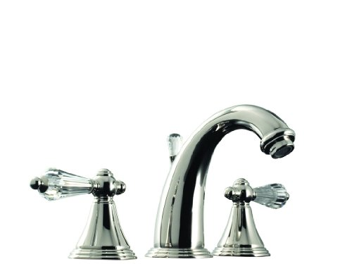 Santec Kriss Crystal Collection Widespread Lavatory Faucet - 2220KC10 (Faucet Santec Widespread Lavatory)