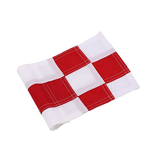 - KONDAY Golf Flag,Practice Green Golf Flags, Solid Nylon and Checkered Traning Golf Putting Green Flags, Indoor Outdoor Backyard Garden Portable Golf Target Flags 8