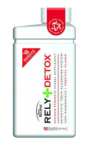 Rely Maximum Strength One-Step Detox Drink By Total Eclipse Detox - Toxin Cleanse & Herbal Supplement Tropical Flavor, 16 oz (Best Way To Clean Your System Of Opiates)