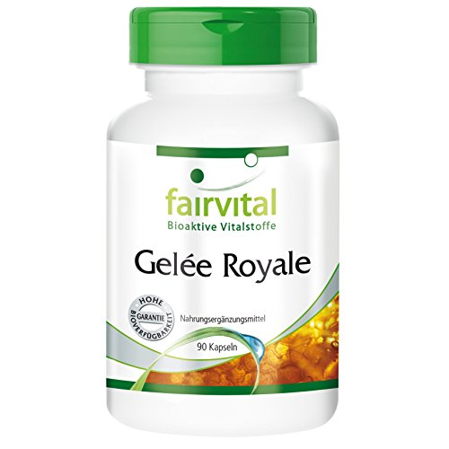 Gelee Royale Extrakt 500mg - 90 Kapseln - 500mg 4:1 Extrakt pro Kapsel; entspricht 2000mg Gelée Royale
