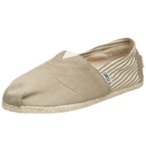 TOMS Men's Classic Rope Slip-On,University Khaki,