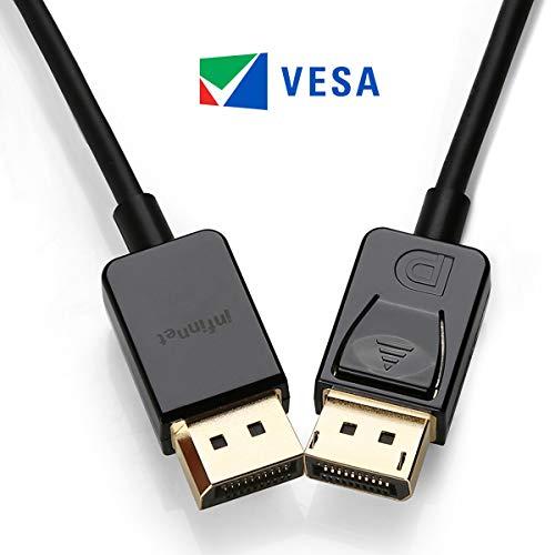 Infinnet DisplayPort 1.2 Cable, 4K 60Hz, 1440p 144Hz, Slim &