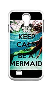Cool Painting keep calm and be a mermaid Snap-on Hard Back Case Cover Shell for Samsung GALAXY S4 I9500 I9502 I9508 I959 -533