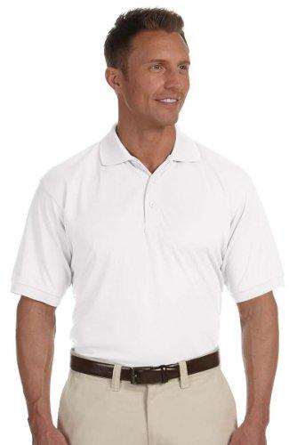 - Devon & Jones Men's Dri-Fast Advantage Solid Mesh Polo L White