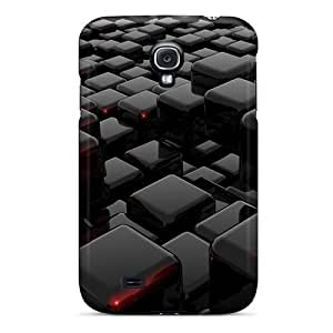Top Quality Protection Black 3d Blocks Cases Covers For Galaxy S4 Black Friday