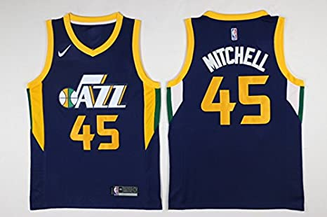 7d50c983e ... Mens Donovan Mitchell Navy Break Replica Player Jersey - Icon Edition  (Navy